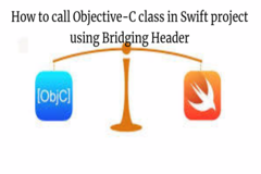 How to call Objective-C class in Swift project using Bridging Header