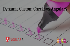 Dynamic Custom Checkbox Angular5