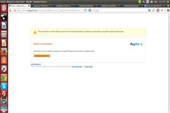 Return To Merchant Error pay-pal