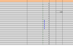 Blue Line in Excel