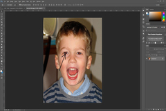 Remove Red eye using Photoshop