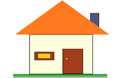 A simple home structure using CSS