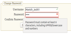 Password validation Using HTML5 and JavaScript Function