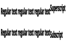 Creating Superscript and Subscript Text in CSS