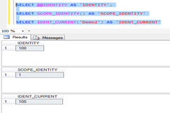SQL Server : Difference between @@IDENTITY, SCOPE_IDENTITY () and IDENT_CURRENT