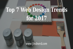 Top 7 Web Design Trends for 2017
