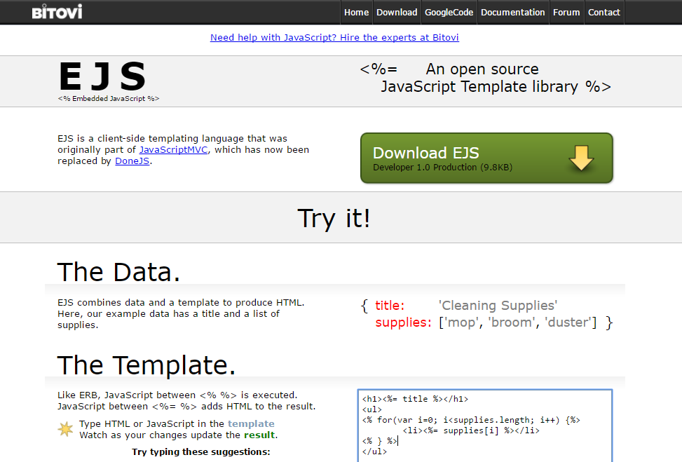 Top 10 Template Engines For Javascript