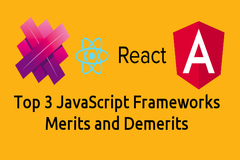 Aurelia, Angular2 and React - Top 3 JavaScript Frameworks with Merits and Demerits