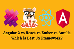 Angular2 vs React vs Ember vs Aurelia JavaScript Frameworks - Which is Best?