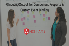 @Input/@Output for Component Property & Custom Event Binding in Angular4