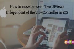 How to move between Two UIViews Independent of the ViewController in iOS