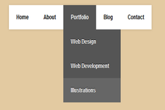 How to create simple drop down navigation menu using css3