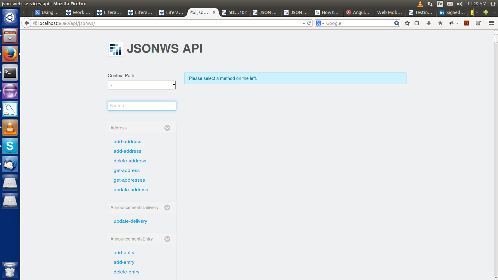 Using JSON Web Services with liferay