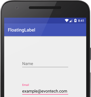 Floating Label in Edittext with TextInputLayout Android