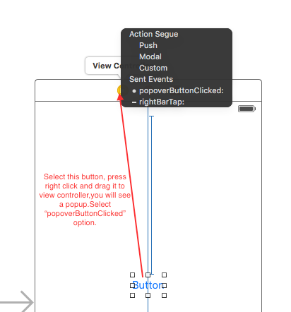 How to create a UIPopoverView programmatically in iOS 9