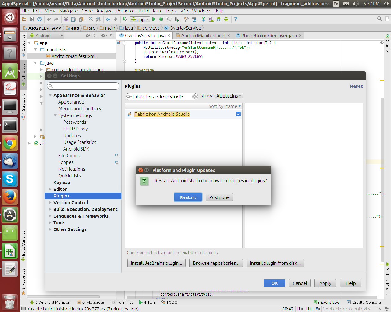 Installing twitter fabric to your android studio