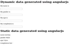 Dynamic and static data generated using angularjs