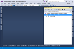 Setting up enviornment for Angular 2 project in Visual Studio