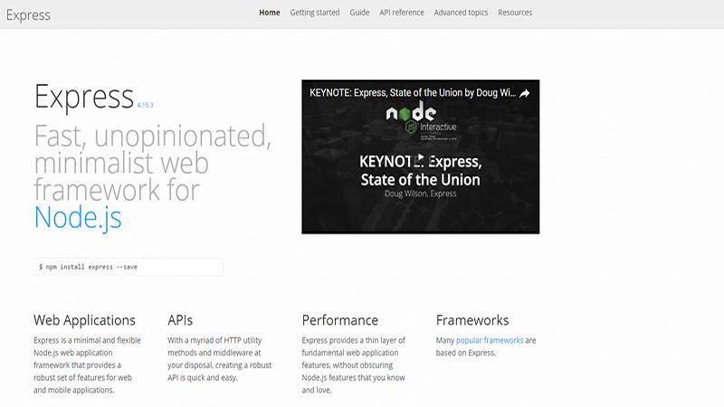 List of Top 10 Node js Frameworks for Beginner Web Developers