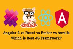 Angular2 vs React vs Ember vs Aurelia JavaScript Frameworks - Which is Best?