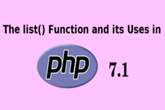 The list() function and its uses in PHP 7.1
