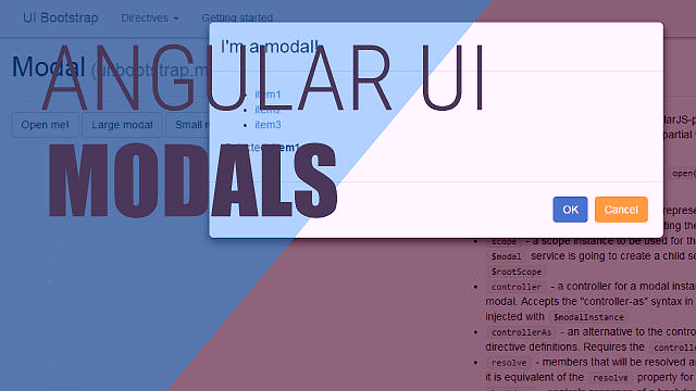 Showing a Popup Window Using Modals in Angularjs