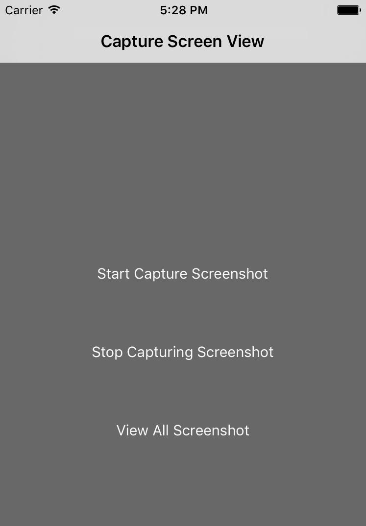 How to Capture Screenshot of Particular Screen Via Swift3