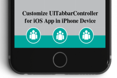 Customize UITabbarController by Collection View for iOS App in iPhone Device