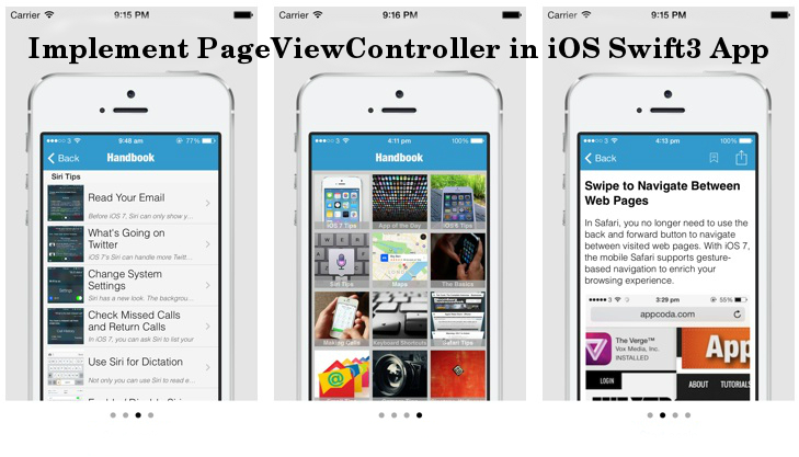 2 Easy Steps to Implement PageViewController in iOS Swift 3
