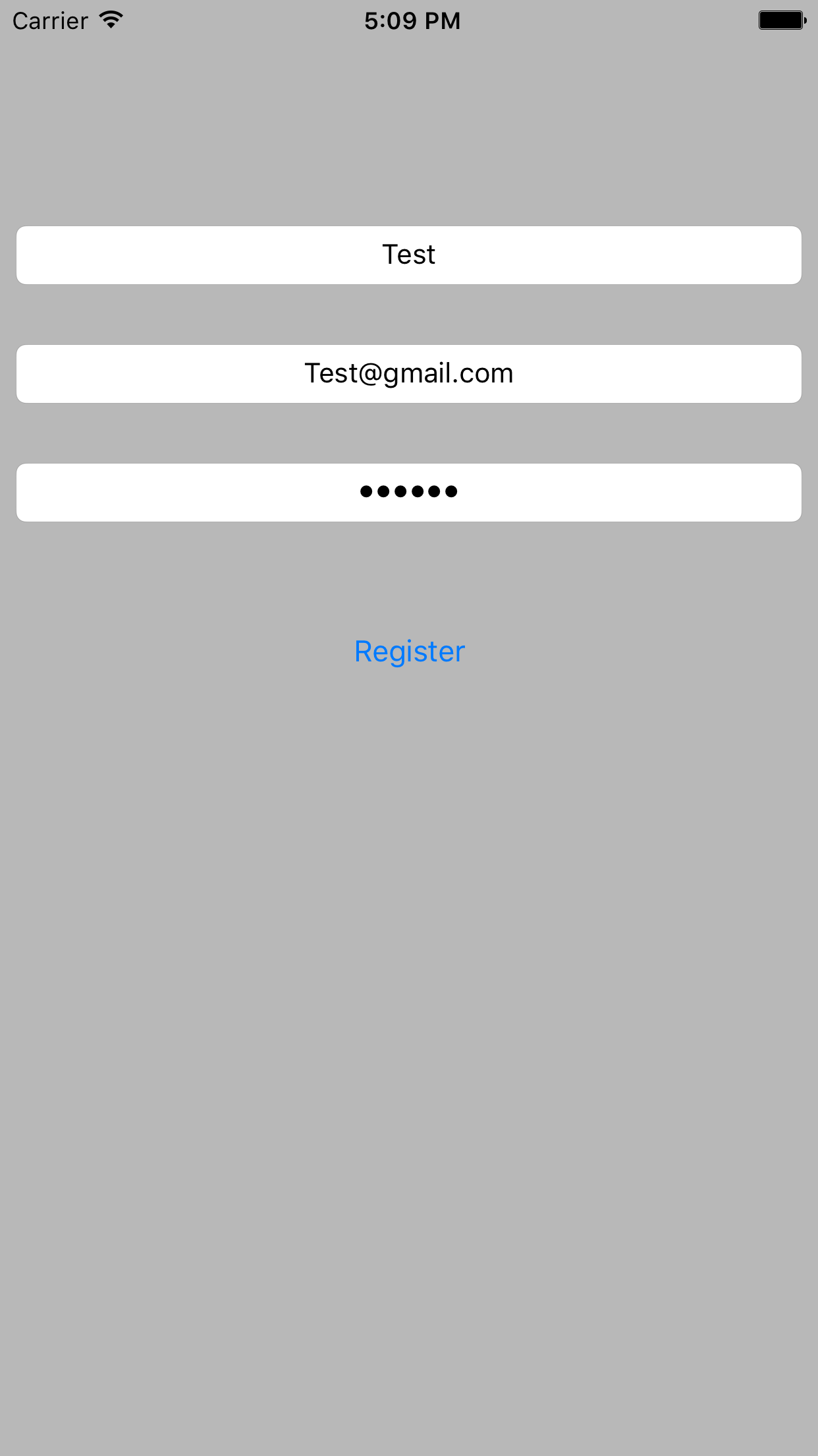 How to Register Realtime User Information at Firebase in iOS App
