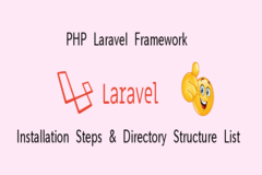 PHP Laravel Framework - Installation Steps & Directory Structure List