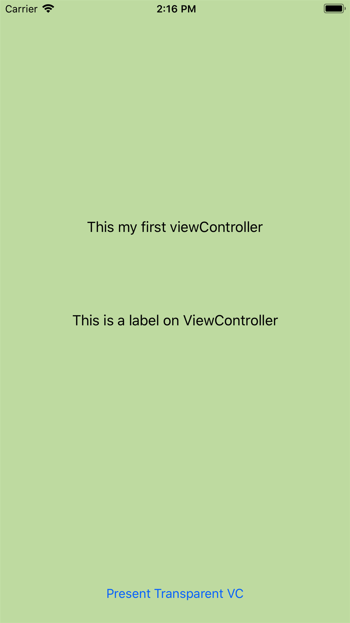 Present ViewController with Transparent Background in Swift