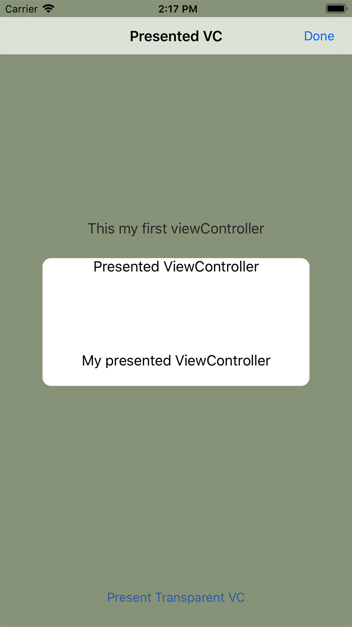 Present ViewController with Transparent Background in Swift iOS App