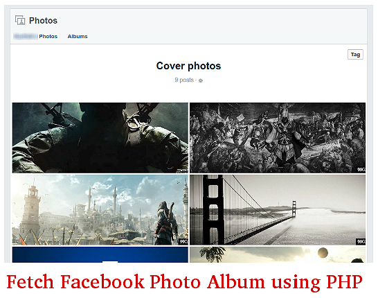 How to Fetch Facebook Photo Album Using PHP Application in