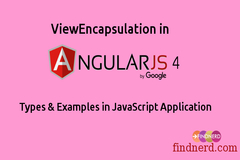 ViewEncapsulation in Angular 4 - Types & Examples in JavaScript Application