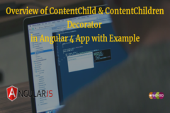 Overview of ContentChild & ContentChildren Decorator in Angular 4 App with Example